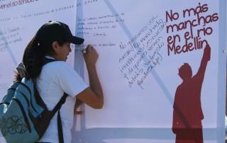 No más manchas en el río Medellín, campaña de concienciación en el Valle de Aburrá